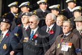 Remembrance Sunday at the Cenotaph in London 2014: Group D1 - Canadian Veterans Association. Press stand opposite the Foreign Office building, Whitehall, London SW1, London, Greater London, United Kingdom, on 09 November 2014 at 11:43, image #274