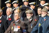 Remembrance Sunday at the Cenotaph in London 2014: Group D1 - Canadian Veterans Association. Press stand opposite the Foreign Office building, Whitehall, London SW1, London, Greater London, United Kingdom, on 09 November 2014 at 11:43, image #275