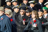 Remembrance Sunday at the Cenotaph in London 2014: Group D1 - Canadian Veterans Association. Press stand opposite the Foreign Office building, Whitehall, London SW1, London, Greater London, United Kingdom, on 09 November 2014 at 11:43, image #276