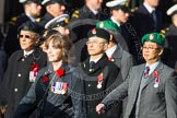 Remembrance Sunday at the Cenotaph in London 2014: Group D1 - Canadian Veterans Association. Press stand opposite the Foreign Office building, Whitehall, London SW1, London, Greater London, United Kingdom, on 09 November 2014 at 11:43, image #277