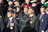 Remembrance Sunday at the Cenotaph in London 2014: Group D2 - Hong Kong Ex-Servicemen's Association (UK Branch). Press stand opposite the Foreign Office building, Whitehall, London SW1, London, Greater London, United Kingdom, on 09 November 2014 at 11:43, image #282