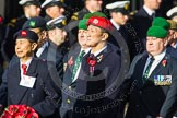Remembrance Sunday at the Cenotaph in London 2014: Group D3 - Hong Kong Military Service Corps. Press stand opposite the Foreign Office building, Whitehall, London SW1, London, Greater London, United Kingdom, on 09 November 2014 at 11:43, image #284
