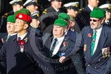 Remembrance Sunday at the Cenotaph in London 2014: Group D4 - Foreign Legion Association. Press stand opposite the Foreign Office building, Whitehall, London SW1, London, Greater London, United Kingdom, on 09 November 2014 at 11:43, image #285