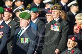 Remembrance Sunday at the Cenotaph in London 2014: Group D4 - Foreign Legion Association. Press stand opposite the Foreign Office building, Whitehall, London SW1, London, Greater London, United Kingdom, on 09 November 2014 at 11:43, image #288