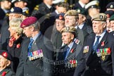 Remembrance Sunday at the Cenotaph in London 2014: Group D4 - Foreign Legion Association. Press stand opposite the Foreign Office building, Whitehall, London SW1, London, Greater London, United Kingdom, on 09 November 2014 at 11:43, image #290