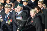 Remembrance Sunday at the Cenotaph in London 2014: Group D4 - Foreign Legion Association. Press stand opposite the Foreign Office building, Whitehall, London SW1, London, Greater London, United Kingdom, on 09 November 2014 at 11:43, image #291