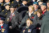 Remembrance Sunday at the Cenotaph in London 2014: Group D5 - Not Forgotten Association. Press stand opposite the Foreign Office building, Whitehall, London SW1, London, Greater London, United Kingdom, on 09 November 2014 at 11:43, image #297