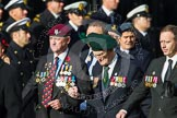 Remembrance Sunday at the Cenotaph in London 2014: Group D6 - TRBL Ex-Service Members. Press stand opposite the Foreign Office building, Whitehall, London SW1, London, Greater London, United Kingdom, on 09 November 2014 at 11:44, image #310
