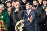 Remembrance Sunday at the Cenotaph in London 2014: Group D6 - TRBL Ex-Service Members. Press stand opposite the Foreign Office building, Whitehall, London SW1, London, Greater London, United Kingdom, on 09 November 2014 at 11:44, image #313