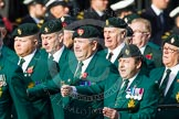 Remembrance Sunday at the Cenotaph in London 2014: Group D10 - Ulster Defence Regiment. Press stand opposite the Foreign Office building, Whitehall, London SW1, London, Greater London, United Kingdom, on 09 November 2014 at 11:44, image #338
