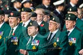 Remembrance Sunday at the Cenotaph in London 2014: Group D10 - Ulster Defence Regiment. Press stand opposite the Foreign Office building, Whitehall, London SW1, London, Greater London, United Kingdom, on 09 November 2014 at 11:44, image #339