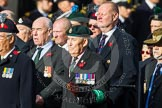 Remembrance Sunday at the Cenotaph in London 2014: Group D12 - North Irish Horse & Irish Regiments Old Comrades Association. Press stand opposite the Foreign Office building, Whitehall, London SW1, London, Greater London, United Kingdom, on 09 November 2014 at 11:45, image #357