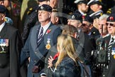 Remembrance Sunday at the Cenotaph in London 2014: Group D13 - Northern Ireland Veterans' Association. Press stand opposite the Foreign Office building, Whitehall, London SW1, London, Greater London, United Kingdom, on 09 November 2014 at 11:45, image #367