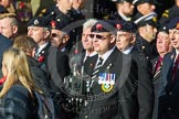 Remembrance Sunday at the Cenotaph in London 2014: Group D13 - Northern Ireland Veterans' Association. Press stand opposite the Foreign Office building, Whitehall, London SW1, London, Greater London, United Kingdom, on 09 November 2014 at 11:45, image #368