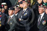 Remembrance Sunday at the Cenotaph in London 2014: Group D13 - Northern Ireland Veterans' Association. Press stand opposite the Foreign Office building, Whitehall, London SW1, London, Greater London, United Kingdom, on 09 November 2014 at 11:45, image #371