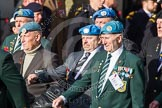 Remembrance Sunday at the Cenotaph in London 2014: Group D14 - Irish United Nations Veterans Association. Press stand opposite the Foreign Office building, Whitehall, London SW1, London, Greater London, United Kingdom, on 09 November 2014 at 11:45, image #374