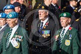 Remembrance Sunday at the Cenotaph in London 2014: Group D14 - Irish United Nations Veterans Association. Press stand opposite the Foreign Office building, Whitehall, London SW1, London, Greater London, United Kingdom, on 09 November 2014 at 11:45, image #375