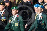 Remembrance Sunday at the Cenotaph in London 2014: Group D14 - Irish United Nations Veterans Association. Press stand opposite the Foreign Office building, Whitehall, London SW1, London, Greater London, United Kingdom, on 09 November 2014 at 11:45, image #376