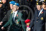 Remembrance Sunday at the Cenotaph in London 2014: Group D14 - Irish United Nations Veterans Association. Press stand opposite the Foreign Office building, Whitehall, London SW1, London, Greater London, United Kingdom, on 09 November 2014 at 11:45, image #377
