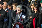 Remembrance Sunday at the Cenotaph in London 2014: Group D17 - St Helena Government UK. Press stand opposite the Foreign Office building, Whitehall, London SW1, London, Greater London, United Kingdom, on 09 November 2014 at 11:45, image #379