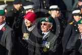 Remembrance Sunday at the Cenotaph in London 2014: Group D18 - Commando Veterans Association. Press stand opposite the Foreign Office building, Whitehall, London SW1, London, Greater London, United Kingdom, on 09 November 2014 at 11:45, image #382