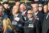 Remembrance Sunday at the Cenotaph in London 2014: Group D19 - South Atlantic Medal Association. Press stand opposite the Foreign Office building, Whitehall, London SW1, London, Greater London, United Kingdom, on 09 November 2014 at 11:45, image #384