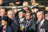 Remembrance Sunday at the Cenotaph in London 2014: Group D19 - South Atlantic Medal Association. Press stand opposite the Foreign Office building, Whitehall, London SW1, London, Greater London, United Kingdom, on 09 November 2014 at 11:45, image #386