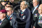 Remembrance Sunday at the Cenotaph in London 2014: Group D19 - South Atlantic Medal Association. Press stand opposite the Foreign Office building, Whitehall, London SW1, London, Greater London, United Kingdom, on 09 November 2014 at 11:46, image #392