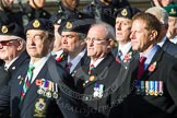 Remembrance Sunday at the Cenotaph in London 2014: Group D19 - South Atlantic Medal Association. Press stand opposite the Foreign Office building, Whitehall, London SW1, London, Greater London, United Kingdom, on 09 November 2014 at 11:46, image #395