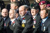 Remembrance Sunday at the Cenotaph in London 2014: Group D19 - South Atlantic Medal Association. Press stand opposite the Foreign Office building, Whitehall, London SW1, London, Greater London, United Kingdom, on 09 November 2014 at 11:46, image #396