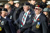 Remembrance Sunday at the Cenotaph in London 2014: Group D19 - South Atlantic Medal Association. Press stand opposite the Foreign Office building, Whitehall, London SW1, London, Greater London, United Kingdom, on 09 November 2014 at 11:46, image #400