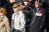 Remembrance Sunday at the Cenotaph in London 2014: Group D21 - First Aid Nursing Yeomanry (Princess Royal's Volunteers Corps). Press stand opposite the Foreign Office building, Whitehall, London SW1, London, Greater London, United Kingdom, on 09 November 2014 at 11:46, image #414