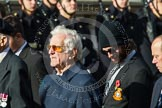 Remembrance Sunday at the Cenotaph in London 2014: Group D23 - British Nuclear Test Veterans Association. Press stand opposite the Foreign Office building, Whitehall, London SW1, London, Greater London, United Kingdom, on 09 November 2014 at 11:46, image #424