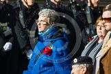 Remembrance Sunday at the Cenotaph in London 2014: Group D23 - British Nuclear Test Veterans Association. Press stand opposite the Foreign Office building, Whitehall, London SW1, London, Greater London, United Kingdom, on 09 November 2014 at 11:46, image #425