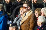 Remembrance Sunday at the Cenotaph in London 2014: Group D23 - British Nuclear Test Veterans Association. Press stand opposite the Foreign Office building, Whitehall, London SW1, London, Greater London, United Kingdom, on 09 November 2014 at 11:46, image #426