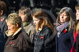 Remembrance Sunday at the Cenotaph in London 2014: Group D23 - British Nuclear Test Veterans Association. Press stand opposite the Foreign Office building, Whitehall, London SW1, London, Greater London, United Kingdom, on 09 November 2014 at 11:46, image #428