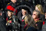 Remembrance Sunday at the Cenotaph in London 2014: Group D24 - War Widows Association. Press stand opposite the Foreign Office building, Whitehall, London SW1, London, Greater London, United Kingdom, on 09 November 2014 at 11:46, image #430