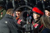 Remembrance Sunday at the Cenotaph in London 2014: Group D24 - War Widows Association. Press stand opposite the Foreign Office building, Whitehall, London SW1, London, Greater London, United Kingdom, on 09 November 2014 at 11:46, image #431