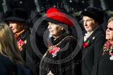 Remembrance Sunday at the Cenotaph in London 2014: Group D24 - War Widows Association. Press stand opposite the Foreign Office building, Whitehall, London SW1, London, Greater London, United Kingdom, on 09 November 2014 at 11:47, image #433