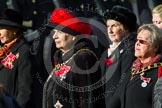 Remembrance Sunday at the Cenotaph in London 2014: Group D24 - War Widows Association. Press stand opposite the Foreign Office building, Whitehall, London SW1, London, Greater London, United Kingdom, on 09 November 2014 at 11:47, image #434