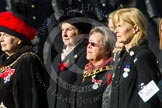 Remembrance Sunday at the Cenotaph in London 2014: Group D24 - War Widows Association. Press stand opposite the Foreign Office building, Whitehall, London SW1, London, Greater London, United Kingdom, on 09 November 2014 at 11:47, image #435