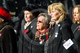 Remembrance Sunday at the Cenotaph in London 2014: Group D24 - War Widows Association. Press stand opposite the Foreign Office building, Whitehall, London SW1, London, Greater London, United Kingdom, on 09 November 2014 at 11:47, image #436