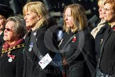 Remembrance Sunday at the Cenotaph in London 2014: Group D24 - War Widows Association. Press stand opposite the Foreign Office building, Whitehall, London SW1, London, Greater London, United Kingdom, on 09 November 2014 at 11:47, image #437
