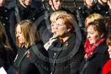 Remembrance Sunday at the Cenotaph in London 2014: Group D24 - War Widows Association. Press stand opposite the Foreign Office building, Whitehall, London SW1, London, Greater London, United Kingdom, on 09 November 2014 at 11:47, image #438