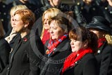 Remembrance Sunday at the Cenotaph in London 2014: Group D24 - War Widows Association. Press stand opposite the Foreign Office building, Whitehall, London SW1, London, Greater London, United Kingdom, on 09 November 2014 at 11:47, image #439