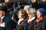 Remembrance Sunday at the Cenotaph in London 2014: Group D24 - War Widows Association. Press stand opposite the Foreign Office building, Whitehall, London SW1, London, Greater London, United Kingdom, on 09 November 2014 at 11:47, image #444
