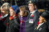 Remembrance Sunday at the Cenotaph in London 2014: Group D24 - War Widows Association. Press stand opposite the Foreign Office building, Whitehall, London SW1, London, Greater London, United Kingdom, on 09 November 2014 at 11:47, image #445