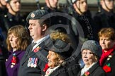 Remembrance Sunday at the Cenotaph in London 2014: Group D24 - War Widows Association. Press stand opposite the Foreign Office building, Whitehall, London SW1, London, Greater London, United Kingdom, on 09 November 2014 at 11:47, image #446