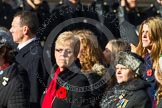 Remembrance Sunday at the Cenotaph in London 2014: Group D24 - War Widows Association. Press stand opposite the Foreign Office building, Whitehall, London SW1, London, Greater London, United Kingdom, on 09 November 2014 at 11:47, image #448