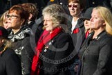Remembrance Sunday at the Cenotaph in London 2014: Group D24 - War Widows Association. Press stand opposite the Foreign Office building, Whitehall, London SW1, London, Greater London, United Kingdom, on 09 November 2014 at 11:47, image #450
